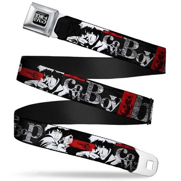 Cowboy Bebop Logo Full Color Black White Cowboy Bebop 2 Spike Siegel Seatbelt Belt