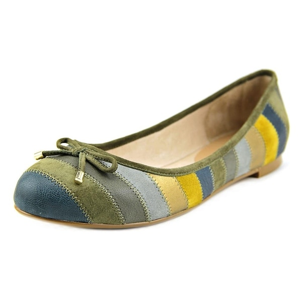 Nina Penny Women Round Toe Leather Multi Color Flats