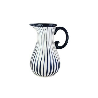 American Atelier Pottery Blue Striped Pitcher