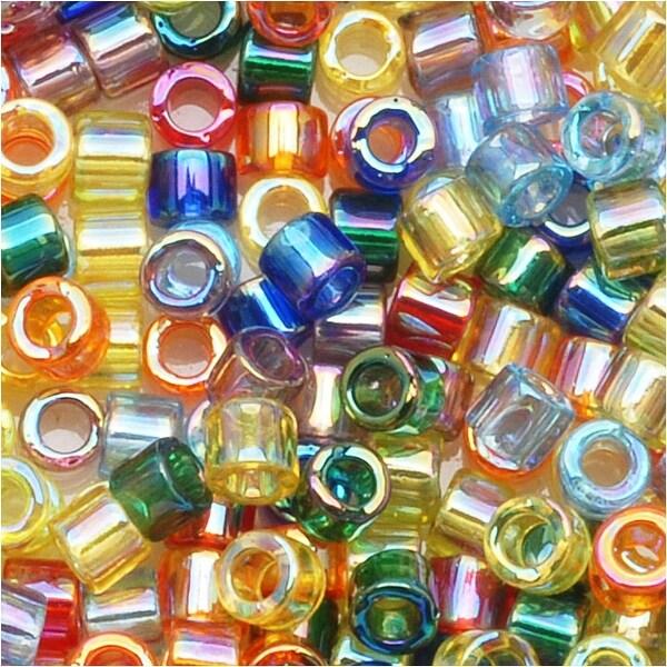 Miyuki Delica Seed Beads Mix Lot 10/0 Transparent Rainbow AB 8 GR