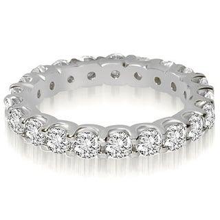 1.40 ct.tw Round Shared Prong Diamond Eternity Ring - White H-I