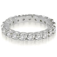 1.40 ct.tw Round Shared Prong Diamond Eternity Ring - White H-I