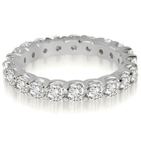 14K White Gold 1.40 cttw. Round Shared Prong Diamond Eternity Ring HI,SI1-2