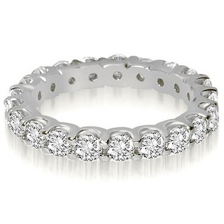 1.40 cttw. 14K White Gold Round Shared Prong Diamond Eternity Ring (More options available)