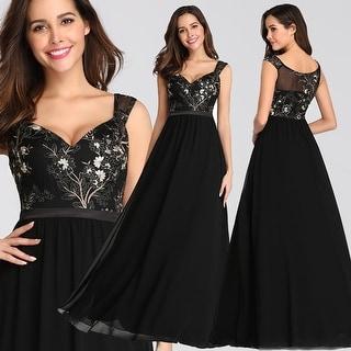 Ever-Pretty Womens Elegant V-Neck Long Formal Evening Dresses 07783