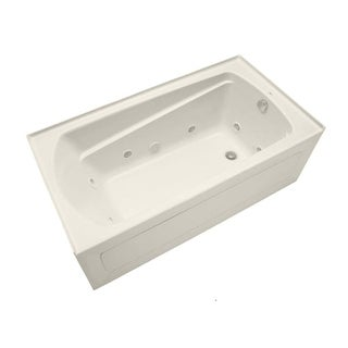 "Mirabelle MIRBDW6032R Bradenton 60"" X 32"" Three-Wall Alcove Whirlpool Tub with Right Hand Drain"