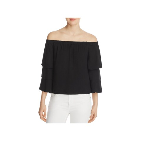 Ella Moss Womens Stella Casual Top Tiered Off-The-Shoulder