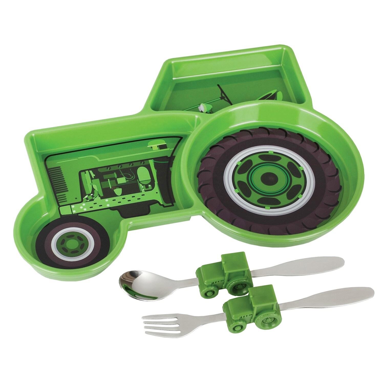 Shop Urban Trend Farm Tractor Meal Set Children S Kid S Plate