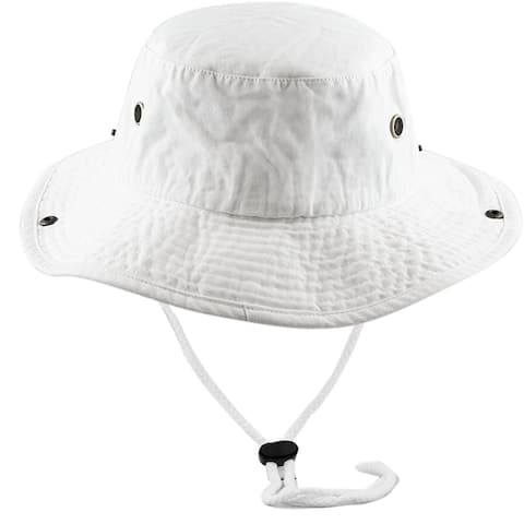 Men Women Boonie hat Cotton Wide Brim Foldable Double-Sided Outdoor