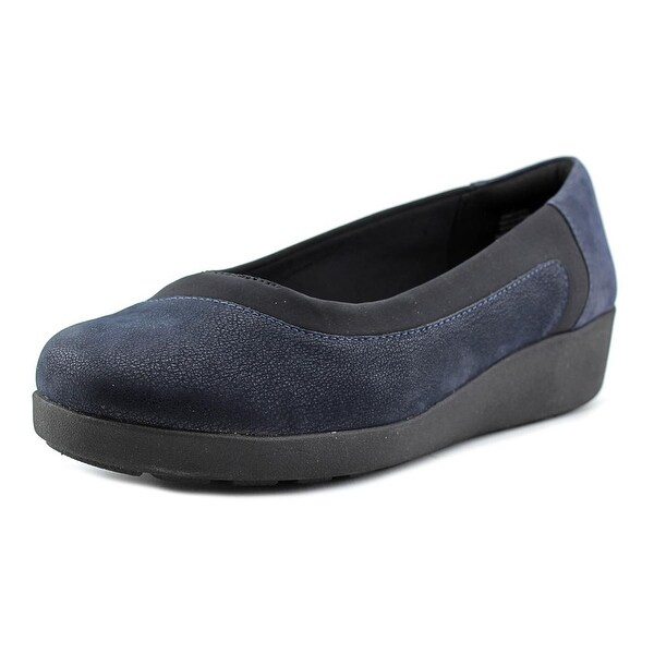 Easy Spirit e360 Kathleen Women W Round Toe Canvas Blue Loafer