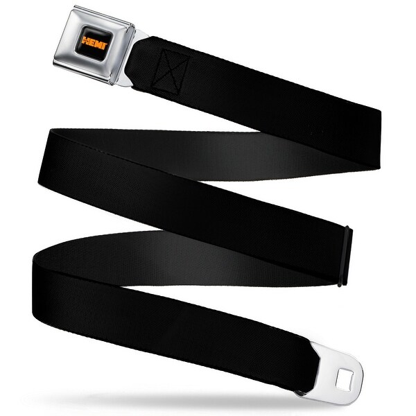 Hemi 426 Logo Full Color Black Orange Black Webbing Seatbelt Belt Fashion Seatbelt Belt