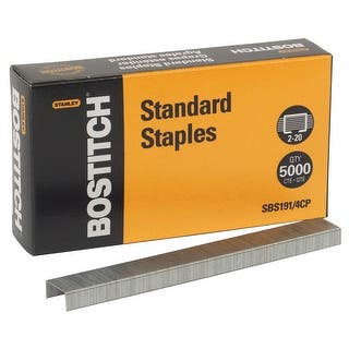 Stanley Bostitch Standard Staples, Pack of 5000|https://ak1.ostkcdn.com/images/products/is/images/direct/0e21025c0c1694d4bcbc791ea6b5ede3949ae3e4/Stanley-Bostitch-Standard-Staples%2C-Pack-of-5000.jpg?impolicy=medium