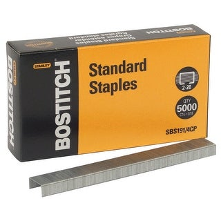 Stanley Bostitch Standard Staples, Pack of 5000
