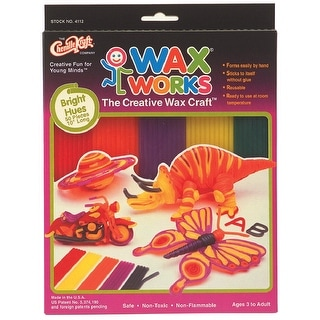 Creativity Street Wax Works Non-Toxic Non-Flammable Reusable Wax Craft Stem, 10 in, Bright, Pack of 500