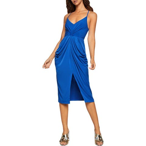 BCBGeneration Womens Cocktail Dress Drapey Tie Front