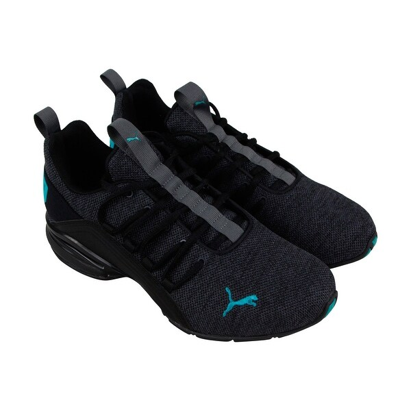 9b4bd3fae61 Shop Puma Axelion Mens Black Textile Athletic Lace Up Running Shoes ...