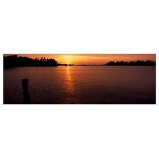 """Sunrise over the sea, Bermuda"" Poster Print"