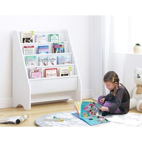 UTEX Kids Sling Bookshelf, Magazine Rack,Book Rack for Kids,Book Organizer