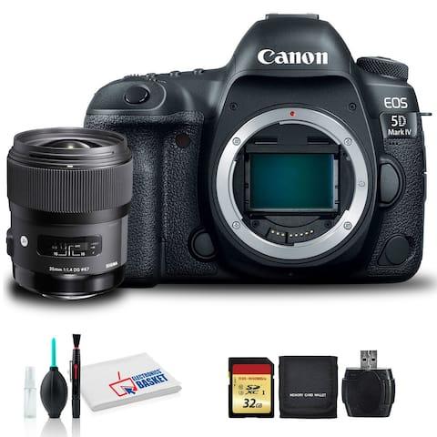 Canon EOS 5D Mark IV DSLR Camera with Sigma 35mm f/1.4 DG HSM Art