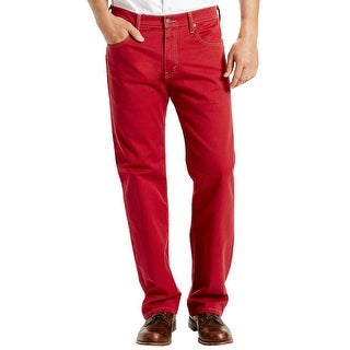 Levi's 569 Loose Fit Straight Leg Scooter Red Bull Denim Jeans