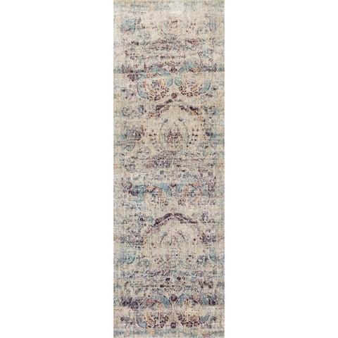 Alexander Home Contessa Traditional Damask Distressed Rug