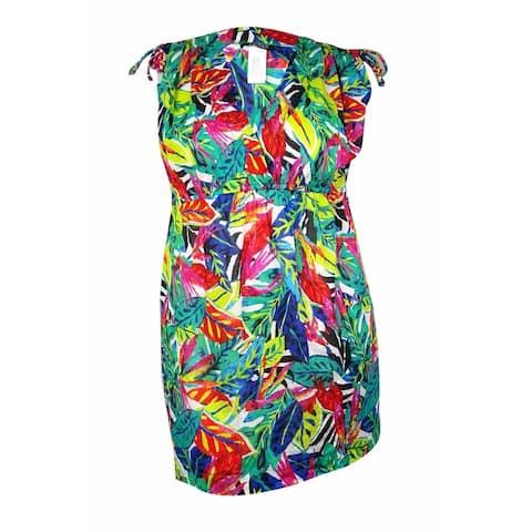 fc09225e31dee Lauren Ralph Lauren Women's Rainforest Tropical Farrah Swim Cover (XL,  Multi) - Multi