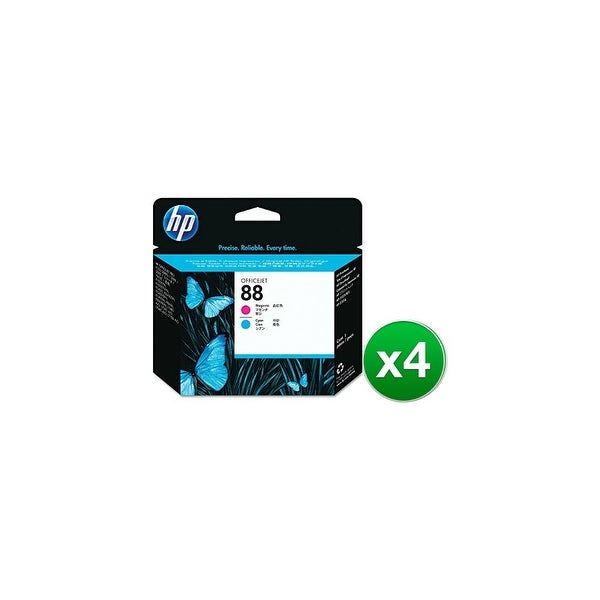 HP 88 Magenta & Cyan Original Printhead (C9382A) (4-Pack)