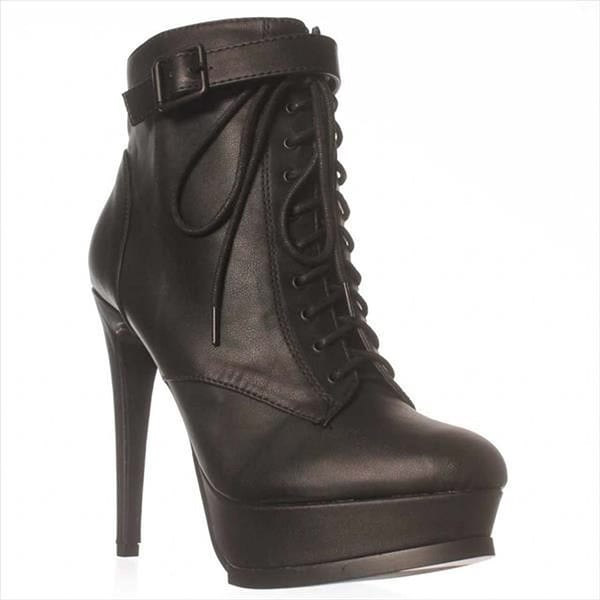 Just Fab Womens Bevin Closed Toe Ankle Fashion Boots