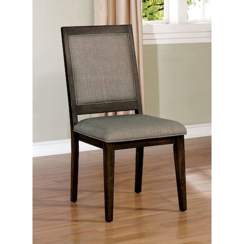 Furniture of America Brent Upholstered Dining Chairs (Set of 2)