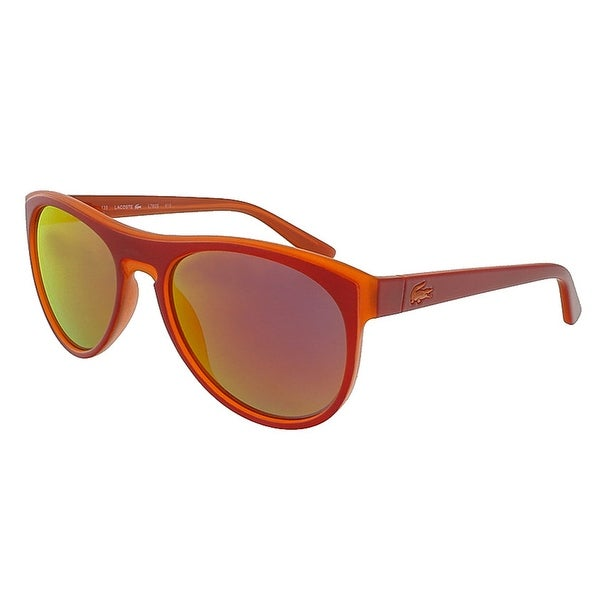 bbceaf38e5a Shop Lacoste L782S 615 Red-Orange Rectangle Sunglasses - 54-18-135 ...