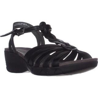 Bare Traps Honora Memory Foam Wedge Sandals, Black