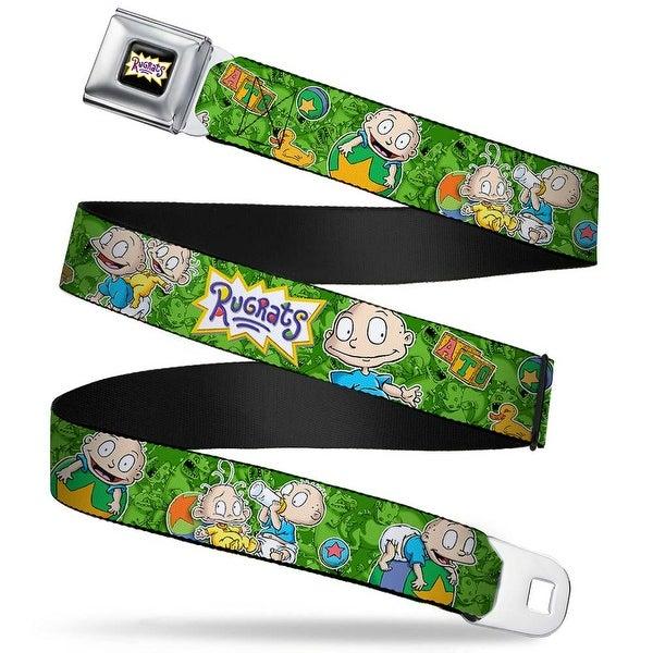 Rugrats Logo Rugrats Tommy & Dill Poses Greens Webbing Seatbelt Belt Seatbelt Belt