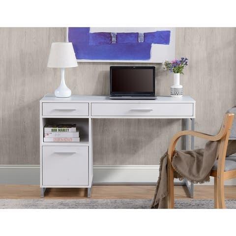 Rustic Wood Computer Desk w/ drawers