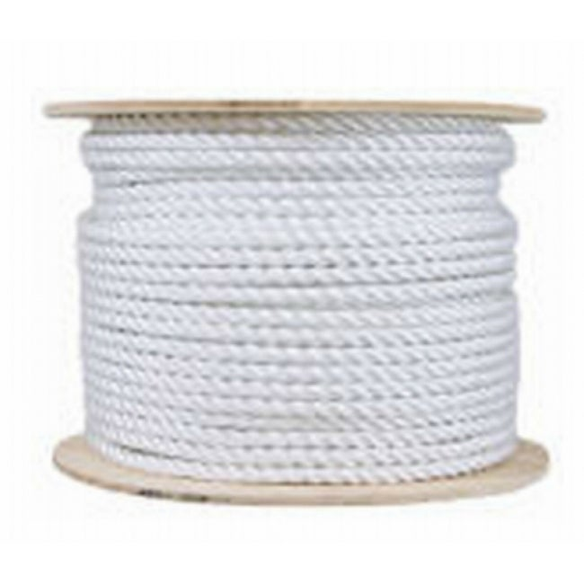 Mibro 644381 Twisted Cotton Rope Reel, Natural Color, 120 Lb, 1/2 x 200