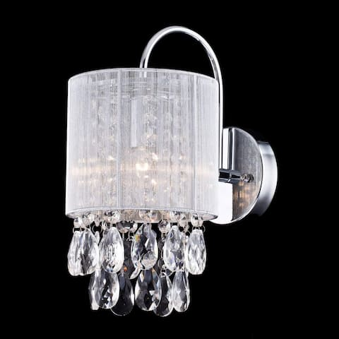 Modern crystal wall sconce