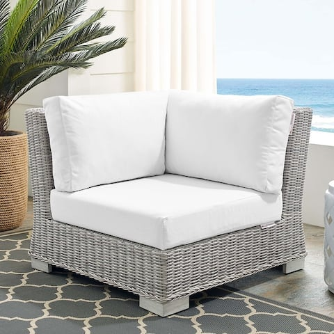 Conway Sunbrella Outdoor Patio Wicker Rattan Corner Chair