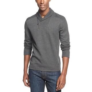 INC International Concepts Shawl Collar Sweater Charcoal Gray Medium M