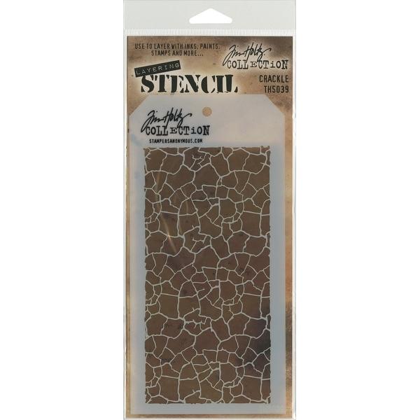 """Tim Holtz Layered Stencil 4.125""""X8.5""""-Crackle"""