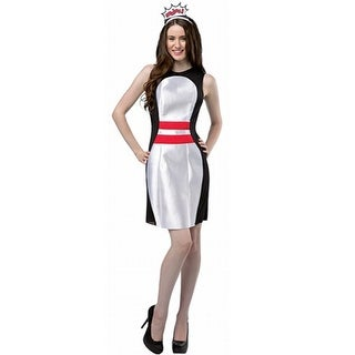 Rasta Imposta Let's Bowl Pin Dress Adult Costume - Solid - one-size