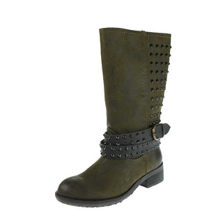 Rebels Womens Motorcycle Boots Studded Mid-Calf