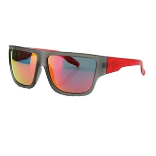 Carve Eyewear Crew Matte Grey With Polarized Red Revo Lens