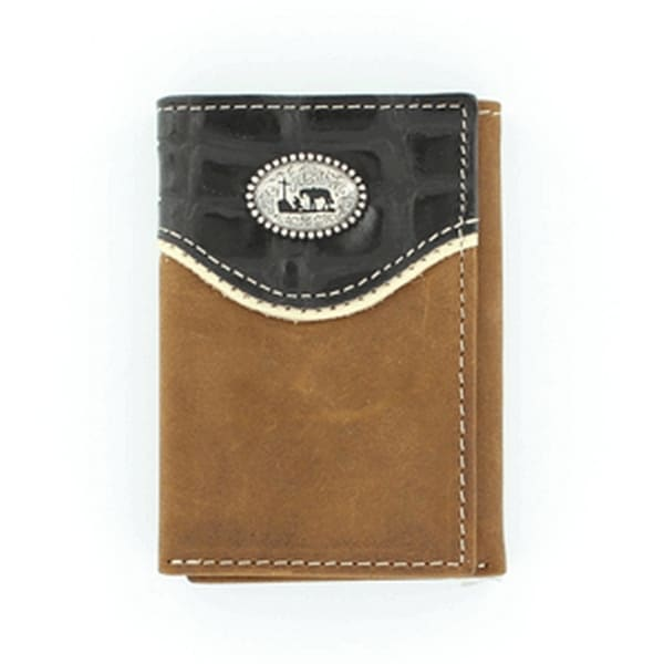 Nocona Western Wallet Mens Trifold Cowboy Prayer Brown Black - One size