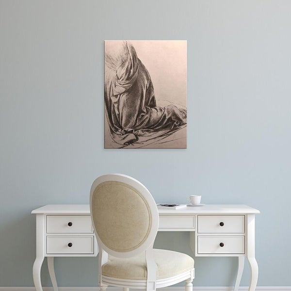 Easy Art Prints Leonardo da Vinci's 'Drawing of drapery' Premium Canvas Art