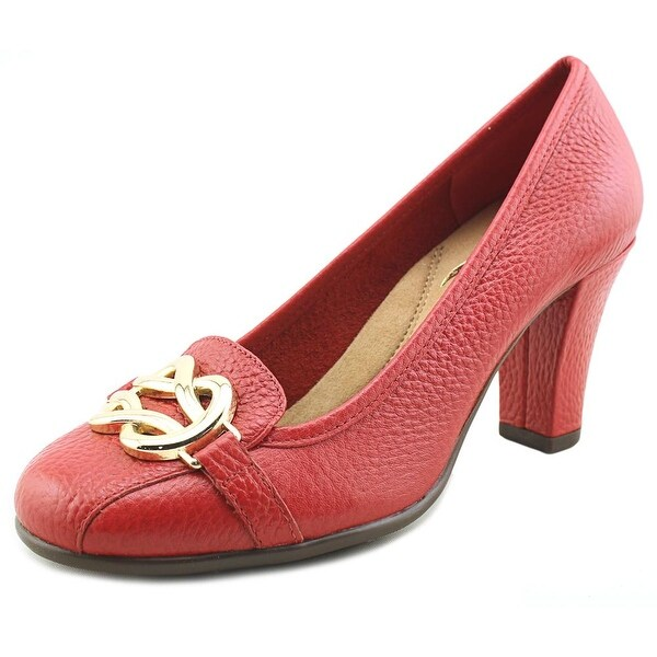 Aerosoles Enrollment Women Round Toe Leather Red Heels