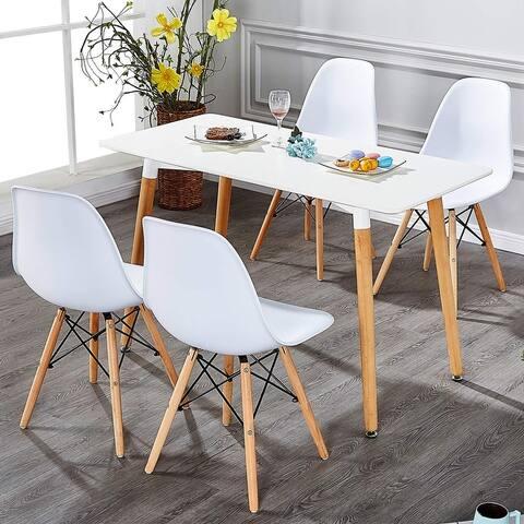 VECELO Office Room Chair Sets Wood Leg Modern Style (Set of 4)