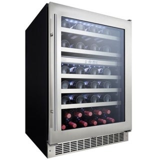 Danby DWC053D1 24 Inch Wide 51 Bottle Capacity Built-In Wine Cooler with Dual Te