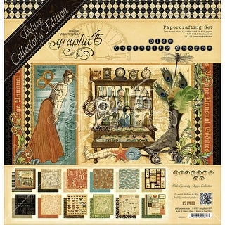 "Graphic 45 Deluxe Collector's Edition Pack 12""X12""-Olde Curiosity Shoppe"