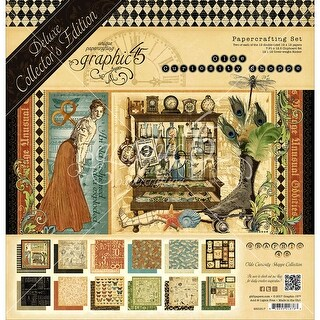 """Graphic 45 Deluxe Collector's Edition Pack 12""""X12""""-Olde Curiosity Shoppe"""