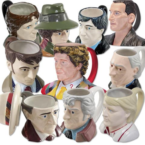 Doctor Who 11oz Sculpted Ceramic Mug Set of 10 - Multi