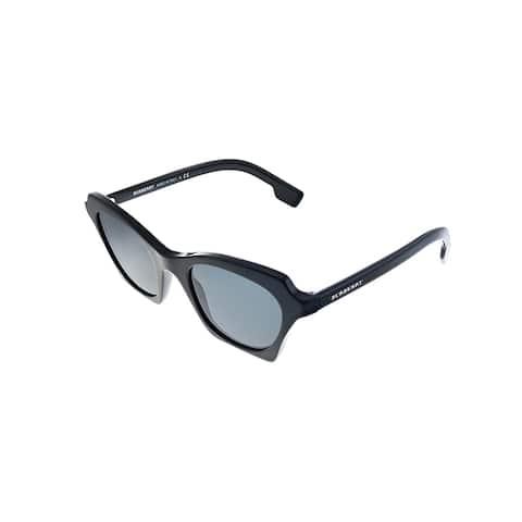 Burberry BE 4283 300187 49mm Womens Black Frame Grey Lens Sunglasses